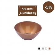 Kit com 6 Tigelas Cereal 750ml em Plástico Zeek Linha Style
