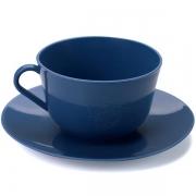Xícara de Chá com Pires em Plástico Zeek Linha Classic