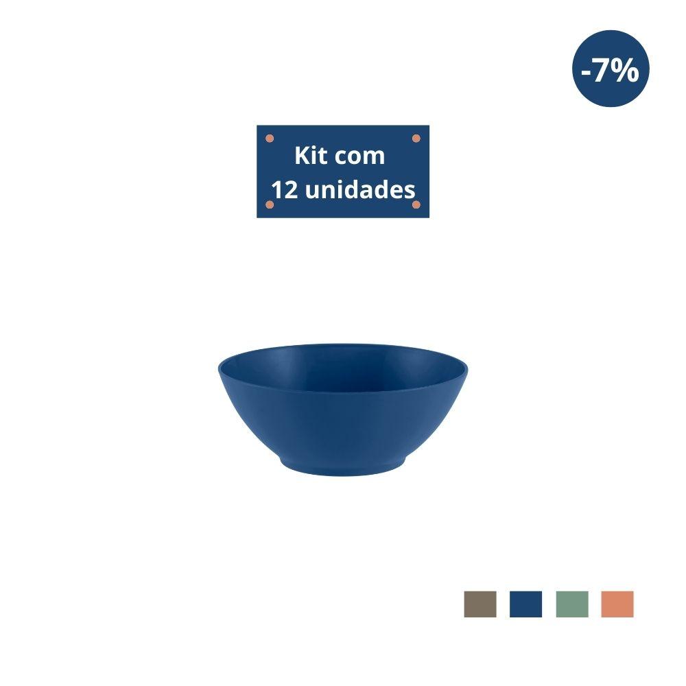 Kit com 12 Tigelas Cereal 750ml em Plástico Zeek Linha Classic