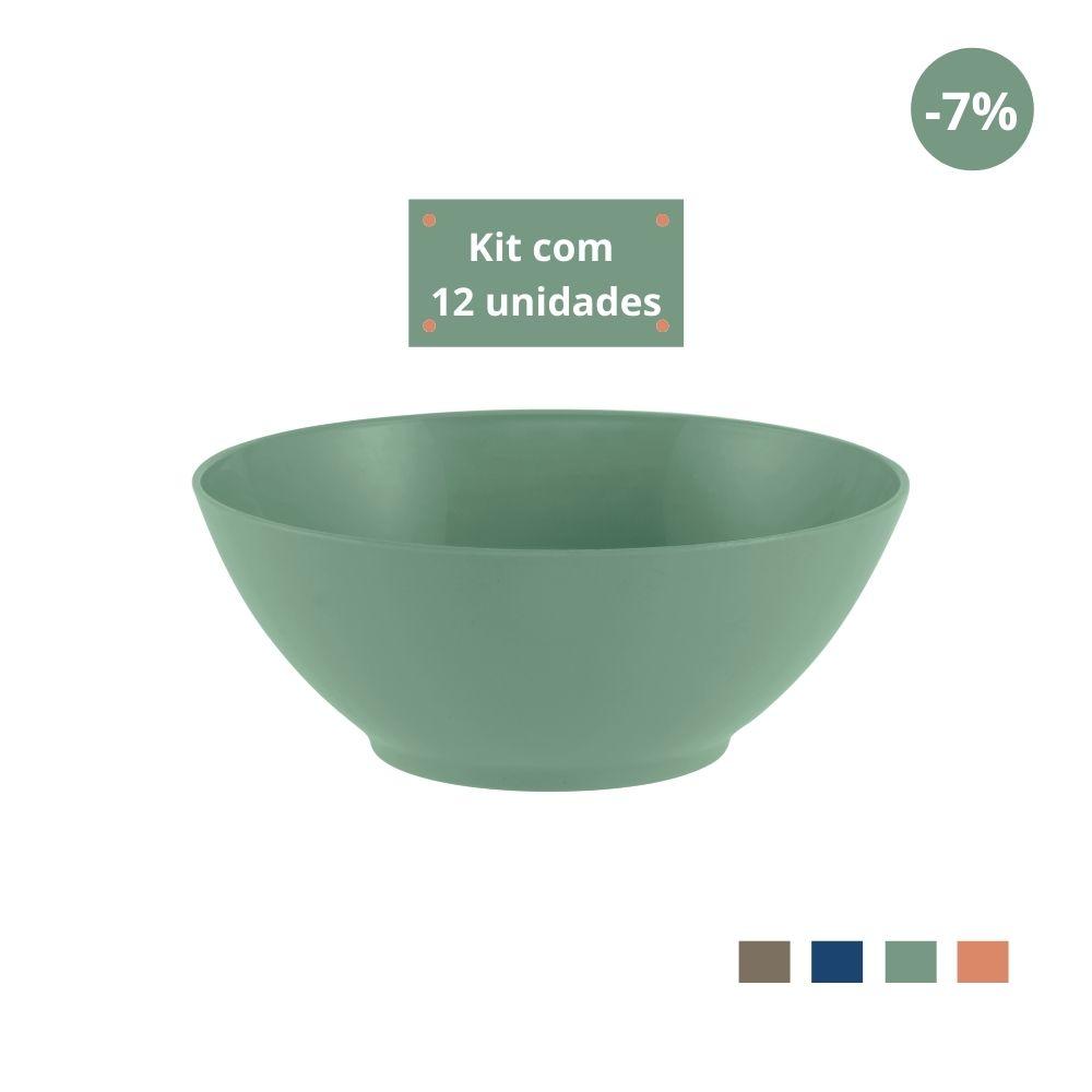 Kit com 12 Tigelas Saladeira 1,8l em Plástico Zeek Linha Classic