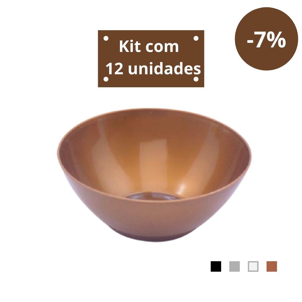 Kit com 12 Tigelas Saladeira 1,8l em Plástico Zeek Linha Style
