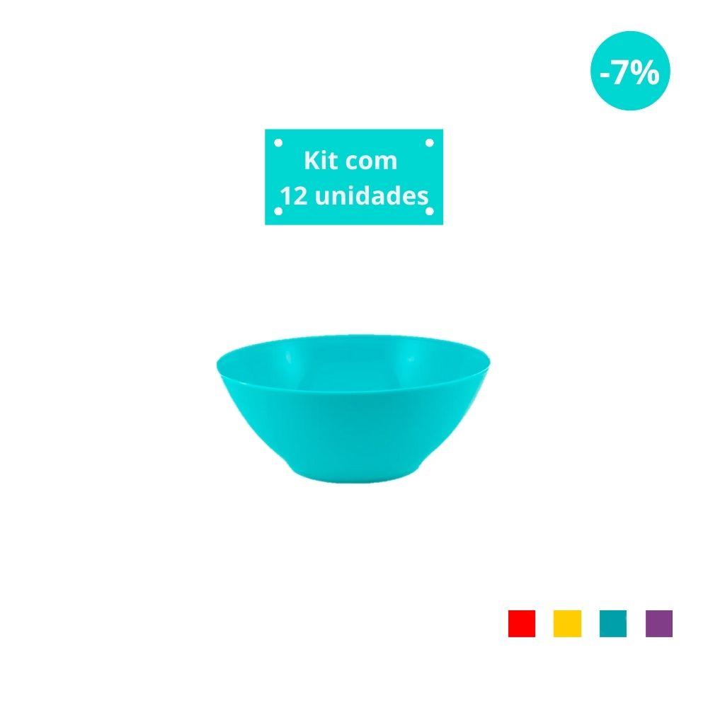 Kit com 12 Tigelas Sobremesa 300 ml em Plástico Zeek Linha POP