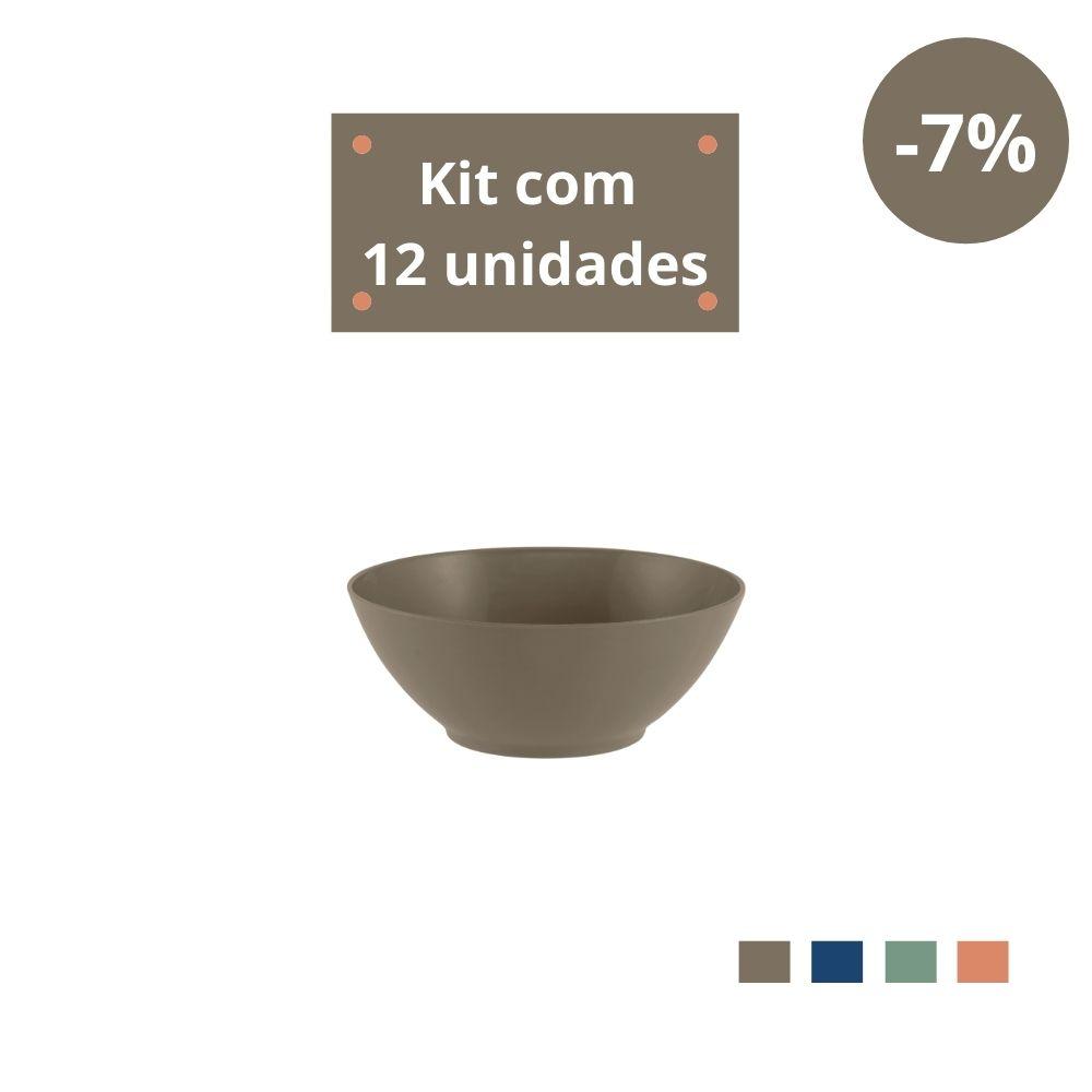 Kit com 12 Tigelas Sobremesa 300ml em Plástico Zeek Linha Classic