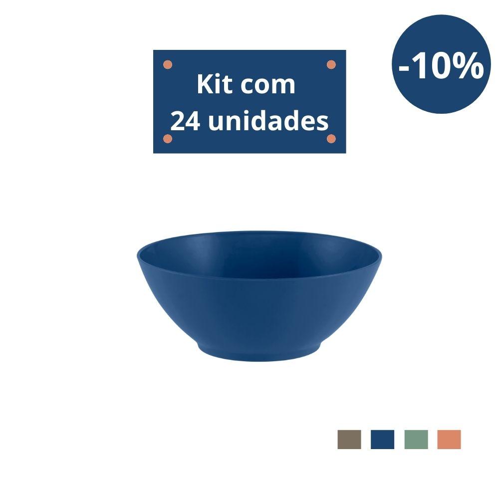 Kit com 24 Tigelas Cereal 750ml em Plástico Zeek Linha Classic