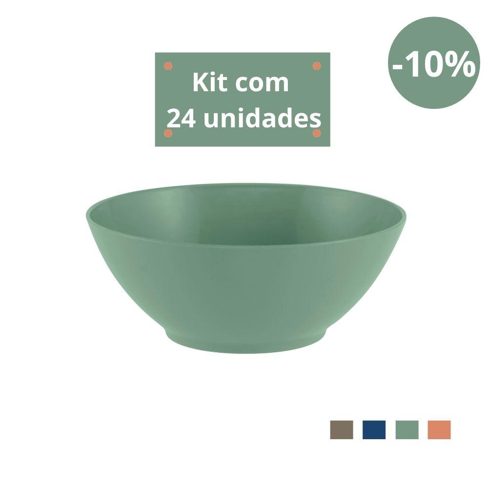 Kit com 24 Tigelas Saladeira 1,8l em Plástico Zeek Linha Classic