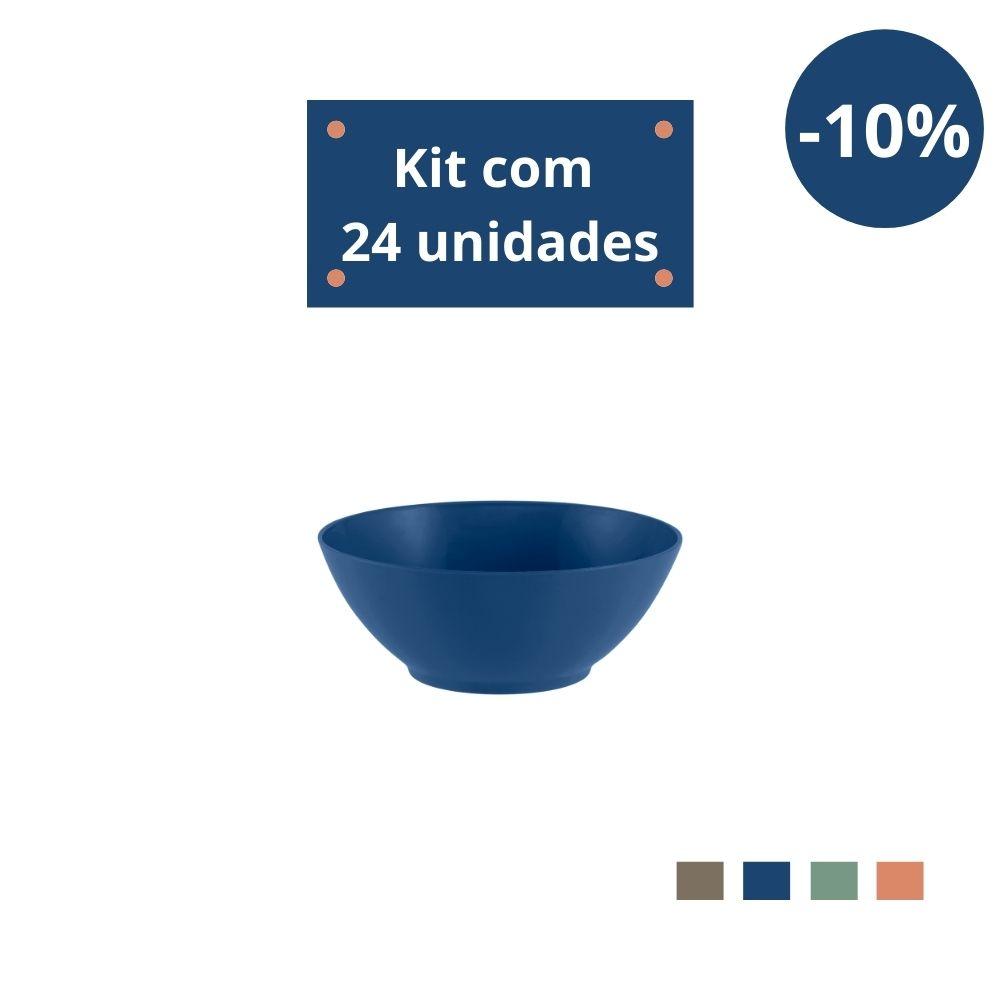 Kit com 24 Tigelas Sobremesa 300ml em Plástico Zeek Linha Classic