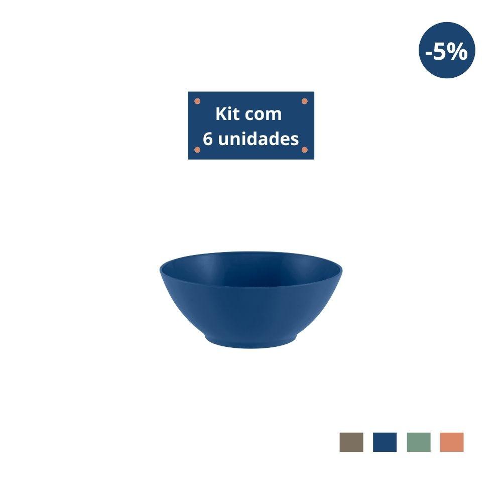 Kit com 6 Tigelas Sobremesa 300ml em Plástico Zeek Linha Classic