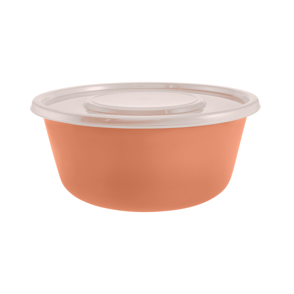 ML - Kit com 4 Saladeiras em Plástico com Tampa 2,9 l Zeek Linha Classic