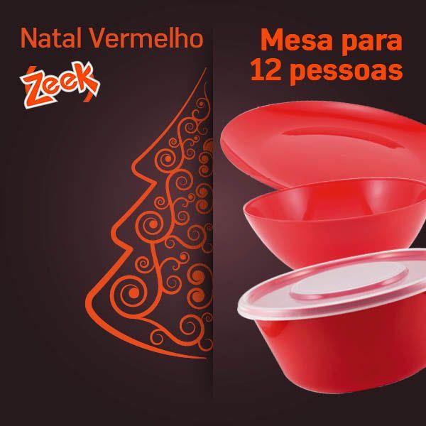 Natal Vermelho Zeek - 12 pessoas