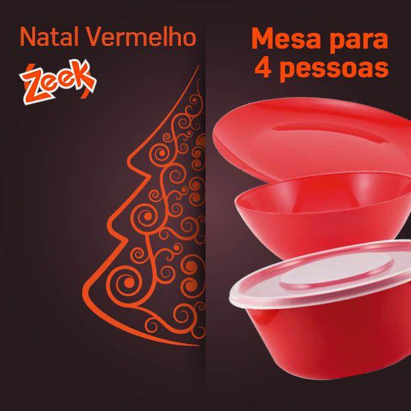 Natal Vermelho Zeek - 4 pessoas