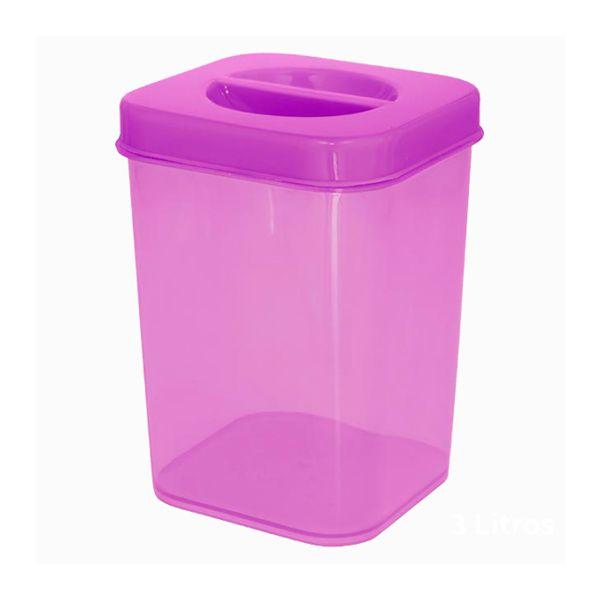 Caixa Organizadora Vertical Plástica 1,7l Zeek Linha POP (Vertical Box | Porta-Mantimentos)