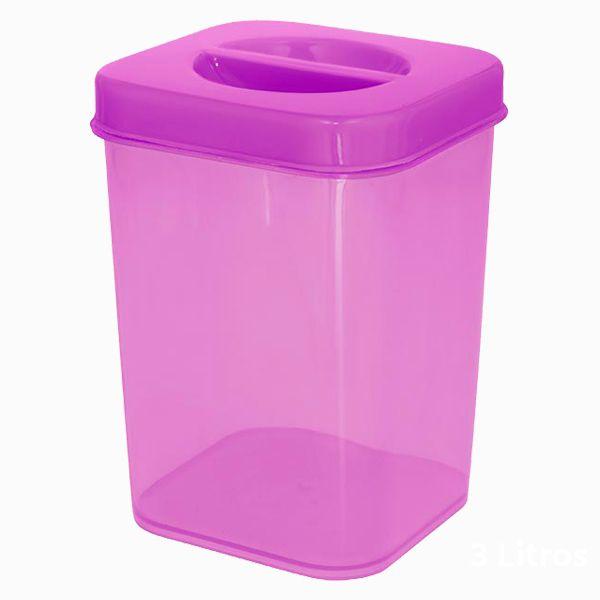 Caixa Organizadora Vertical Plástica 3,0l Zeek Linha POP (Vertical Box | Porta-Mantimentos)