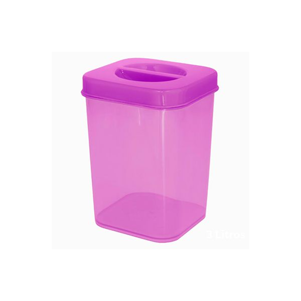 Caixa Organizadora Vertical Plástica 500 ml Zeek Linha POP  (Vertical Box | Porta-Mantimentos)