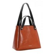 Bolsa feminina de mão/ombro Verniz Clássico Caramelo Chenson 2977