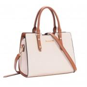 Bolsa feminina de mão Relevo Tresse bege Chenson 2921