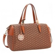 Bolsa feminina de mão/transversal Trico Pop caramelo Chenson 2881
