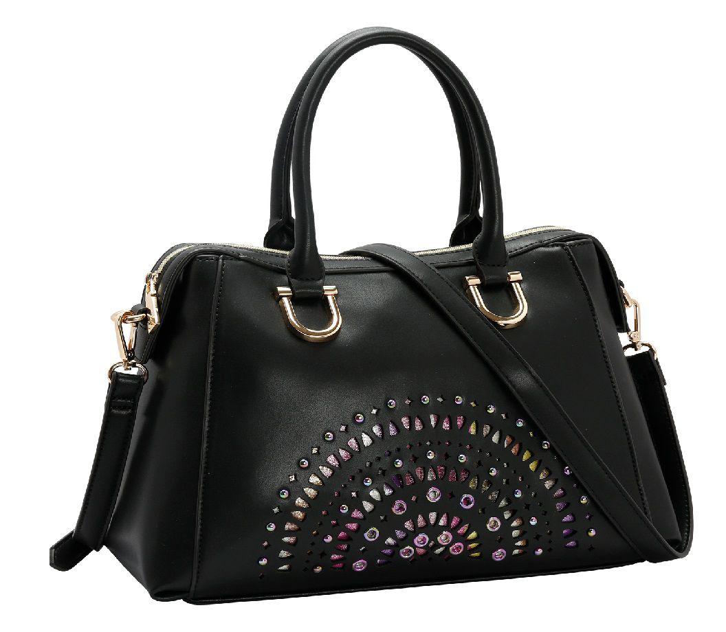 Bolsa Feminina Baú De Mão Colorful Chenson Luxo Elegante1537