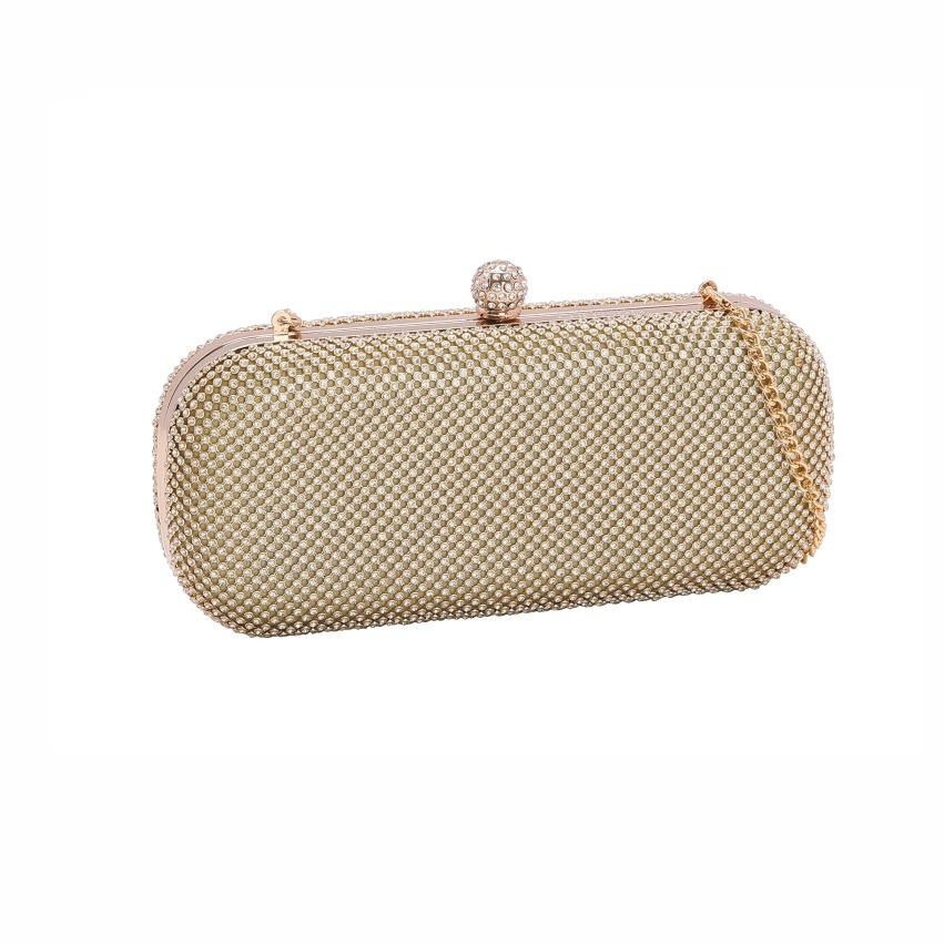 Bolsa feminina clutch de festa Glamour Noite dourado Chenson 2600