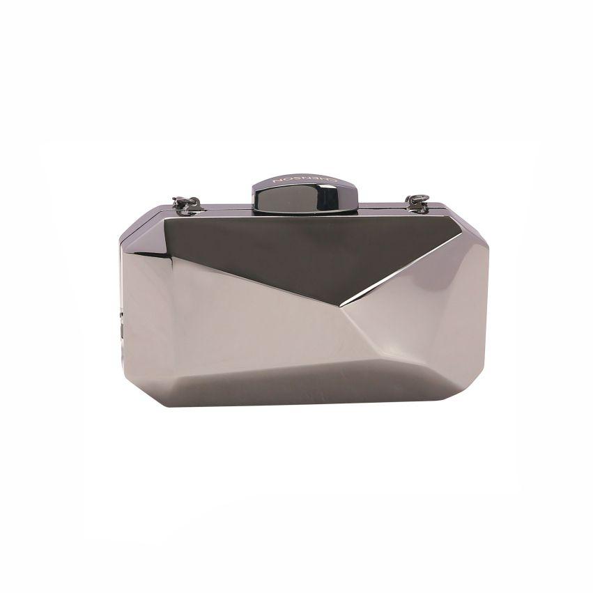 Bolsa feminina clutch de festa Glamour Noite preto Chenson 2663