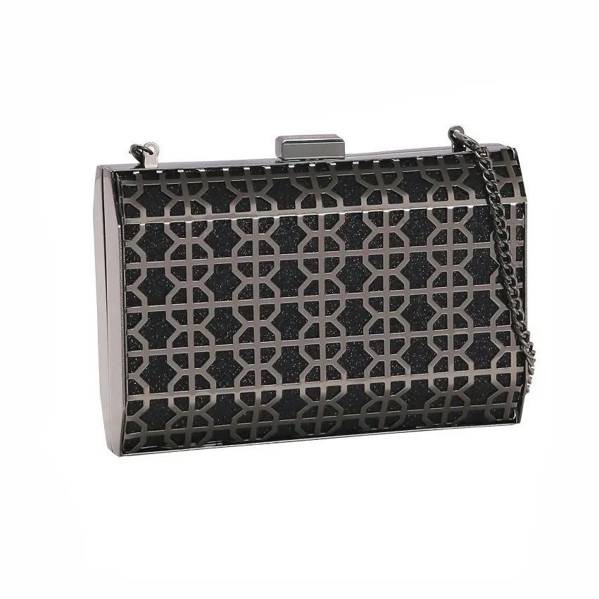 Bolsa feminina clutch de festa Glamour Noite preto Chenson 2665