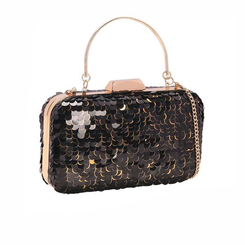 Bolsa feminina clutch de festa Glamour Noite preto Chenson 2666