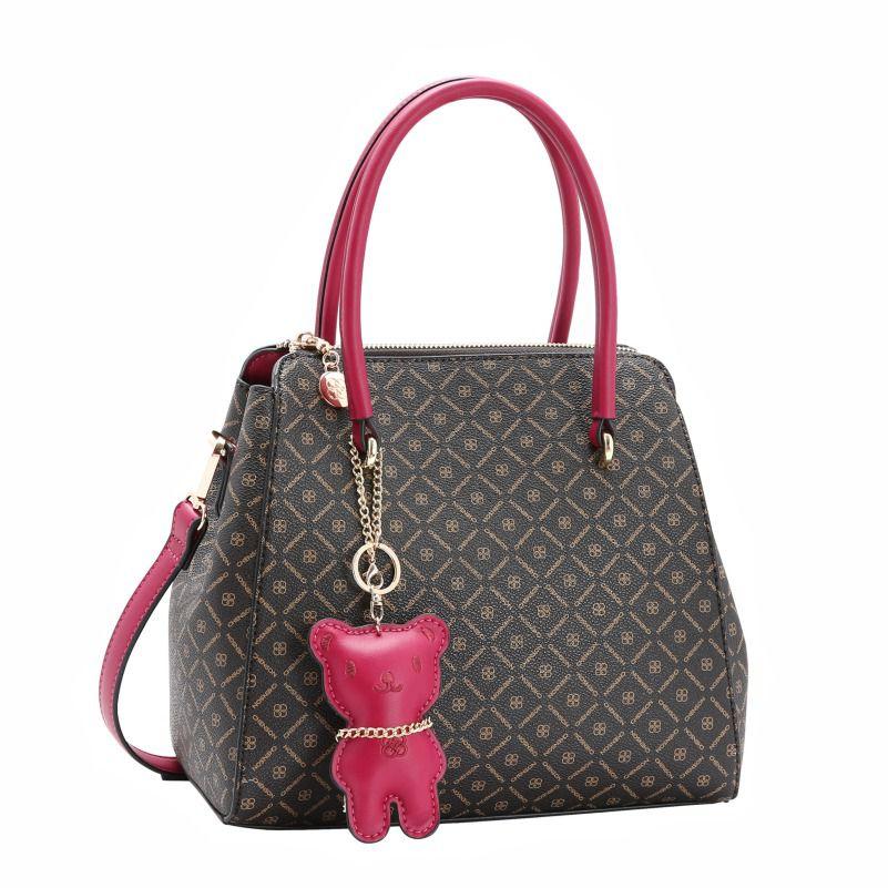 Bolsa Feminina de Mão Monograma Fun Pink Chenson 2266