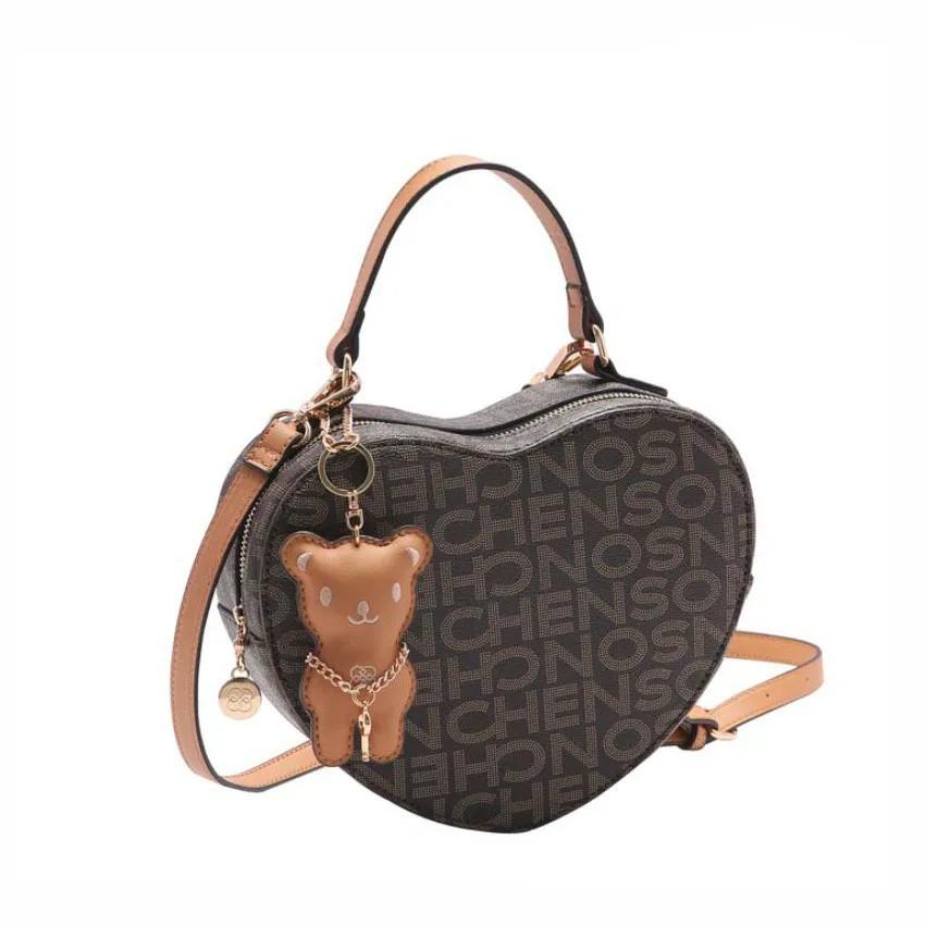 Bolsa feminina de mão/transversal Monograma Fun Chenson 3303
