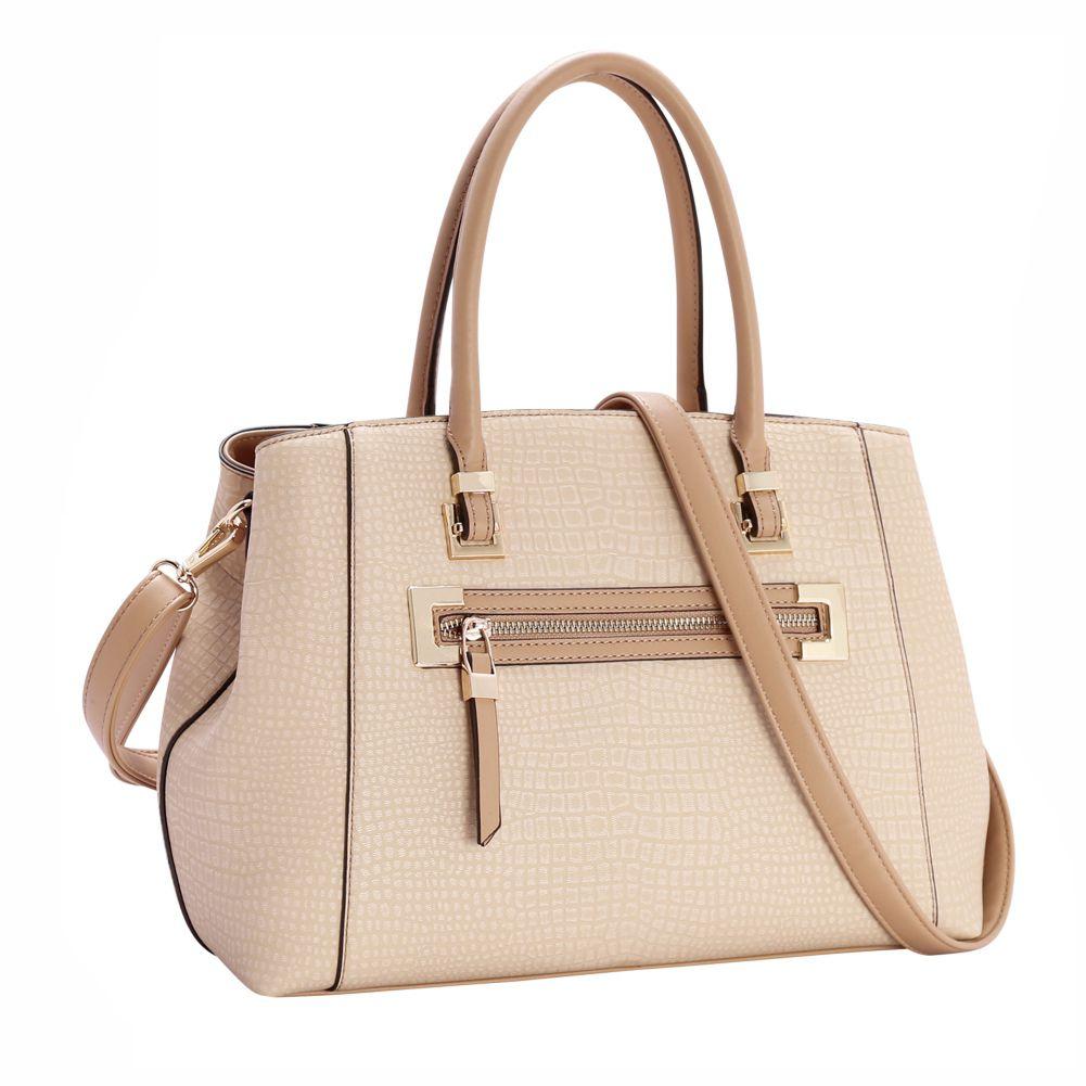 5df07014e Bolsa Feminina Mão Clássico Contemporâneo Chenson Bege 81116 - Bergamoda  Bolsas e Acessórios