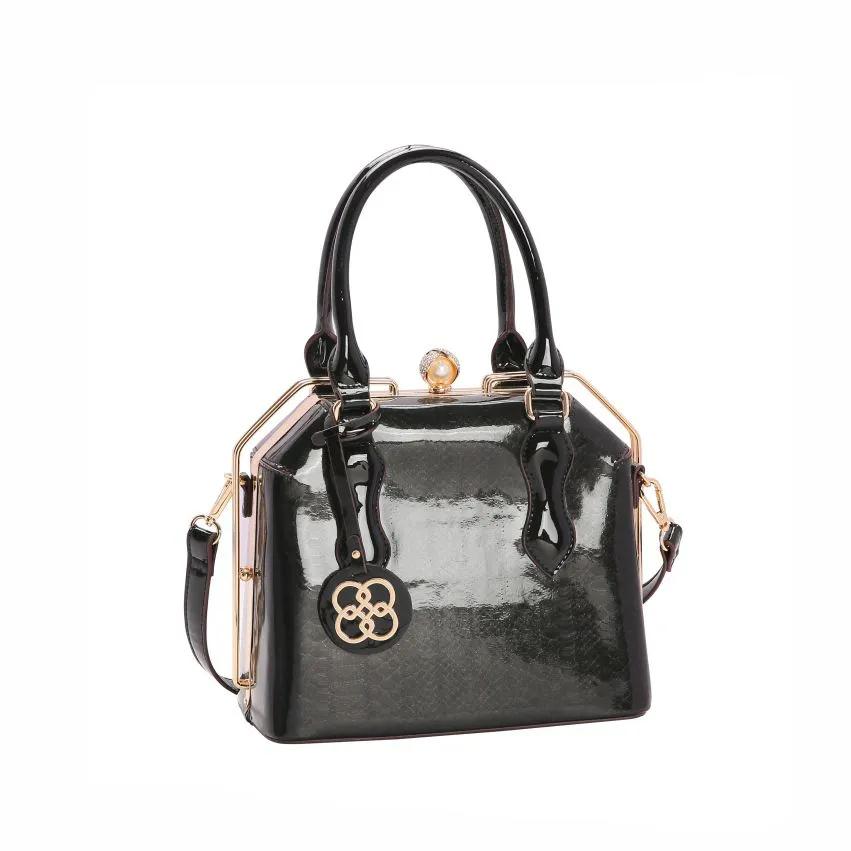 Bolsa feminina mão/transversal  Croco Glam 3012