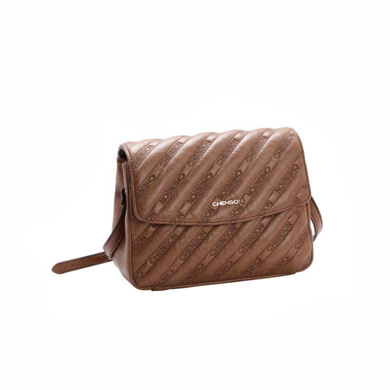 Bolsa Feminina transversal Relevo Diagonal Chenson 2156