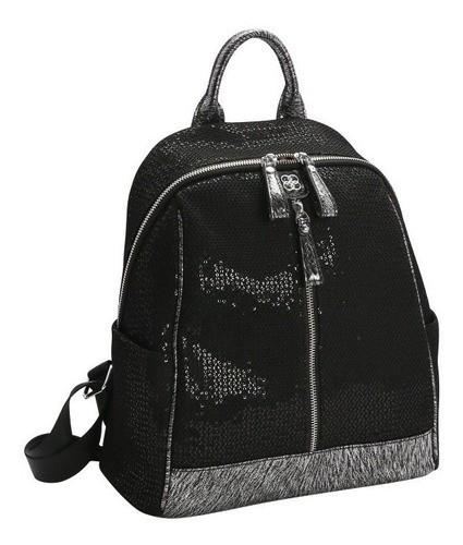 Bolsa Mochila feminina Streetwear preto Chenson 2873
