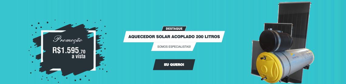 aquecedor solar 200 litros promoção frete grátis