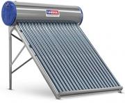 Aquecedor Solar a Vácuo 150 Litros UNISOL 15 Tubos Aço Inox 316 + Caixa Auxiliar