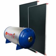 Aquecedor Solar Boiler 400 Litros Desnível Baixa Pressão + 2 Coletores 2x1m Vidro Termo Endurecido