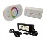 Kit Controle Touch Rgb Piscina + Fonte 12v Para Até 60w