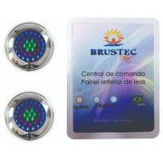 Kit Iluminação Piscina LED Inox Para Até 20M² - Brustec