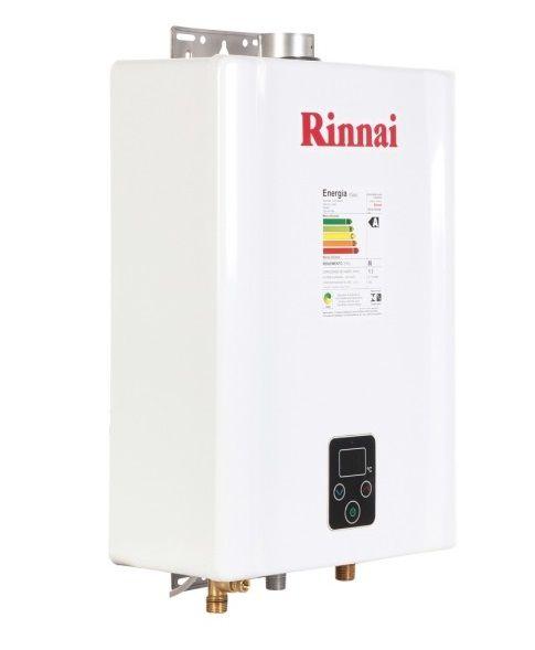 Aquecedor de Água Rinnai E17 Digital - Vazão 17 L/min - Branco - Gás GN