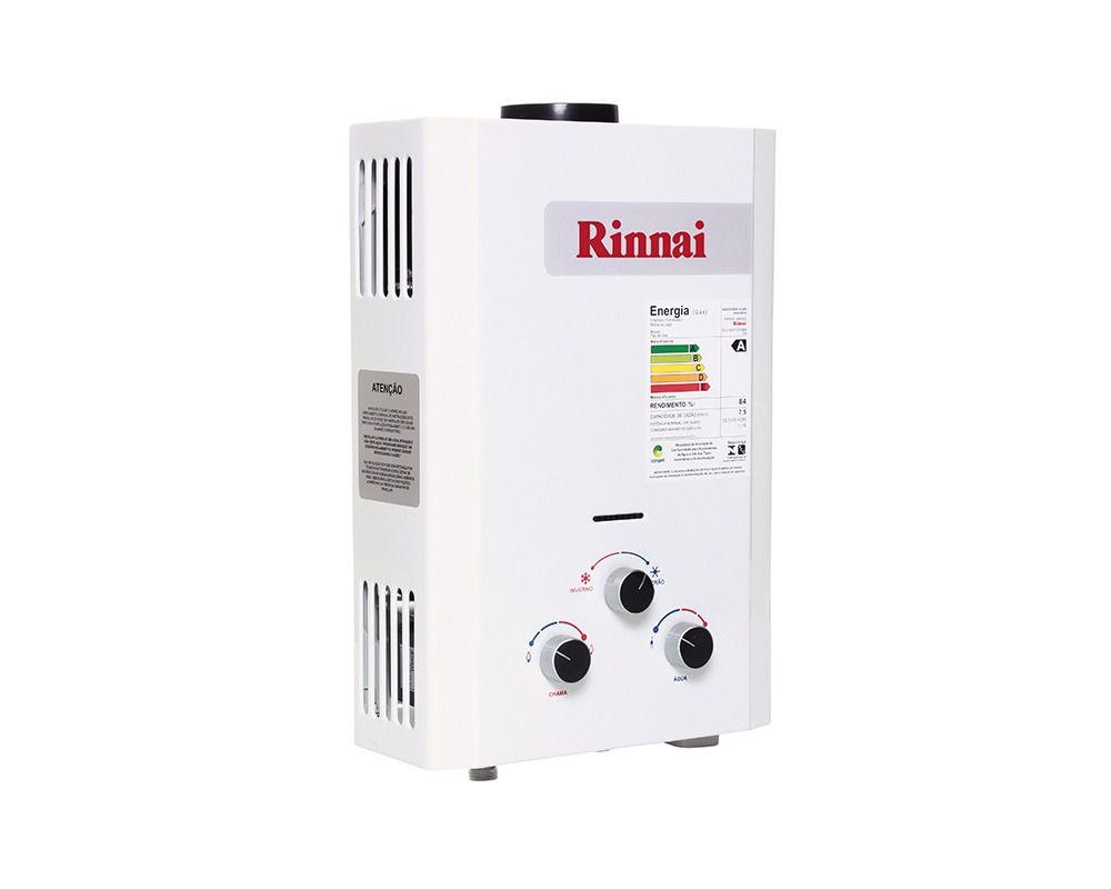 Aquecedor de Água Rinnai M07 CF - Vazão 7,5 L/min - Gás GN