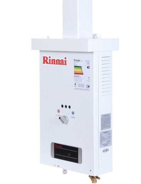 Aquecedor de Água Rinnai REU-73 BR GLP 7 L/min - Gás GN