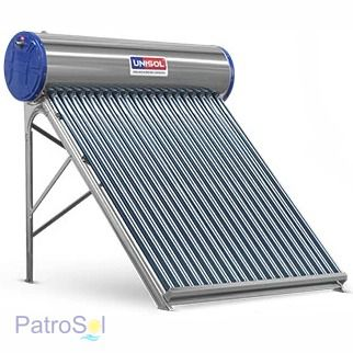 Aquecedor Solar a Vácuo 200 Litros UNISOL 20 Tubos + Caixa Auxiliar