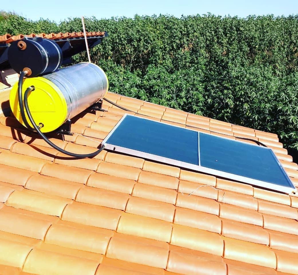 Aquecedor Solar Acoplado 200 Litros Com 1 Placa 2x1m Cobre e Conexões