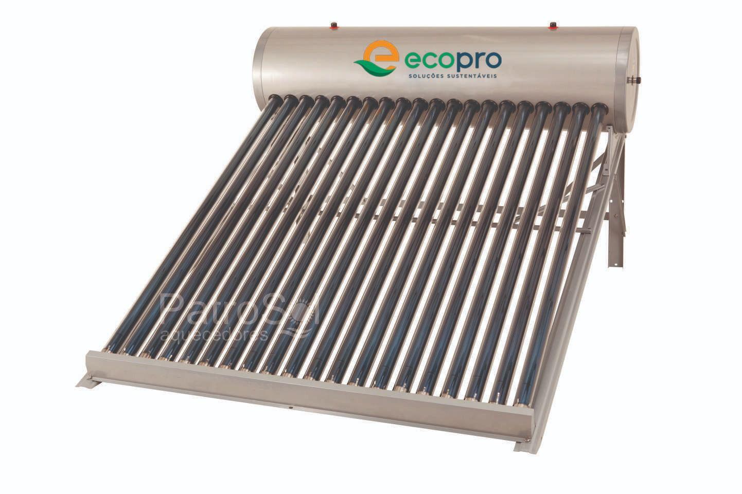 Kit Aquecedor Solar A Vácuo Acoplado Boiler 178 Litros - 20 Tubos