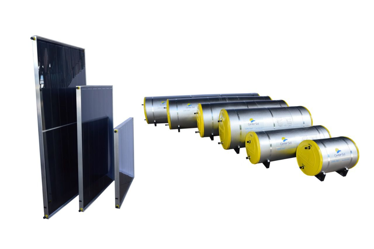 Aquecedor Solar  Boiler 300 Litros Nível/Desnível Baixa Pressão + 3 placas 1x1m cobre