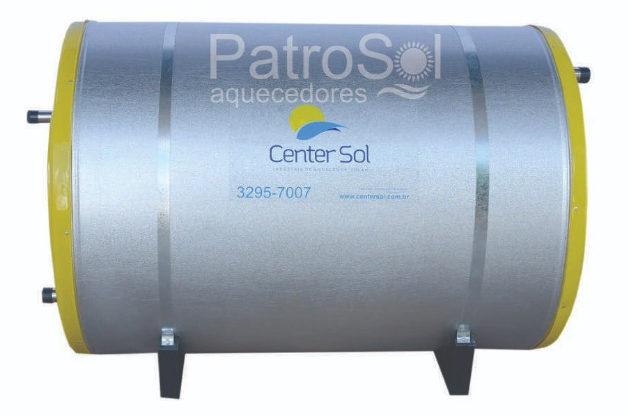 Aquecedor Solar – Boiler 300 Litros Nível/Desnível Baixa Pressão + 3 placas 1x1m cobre