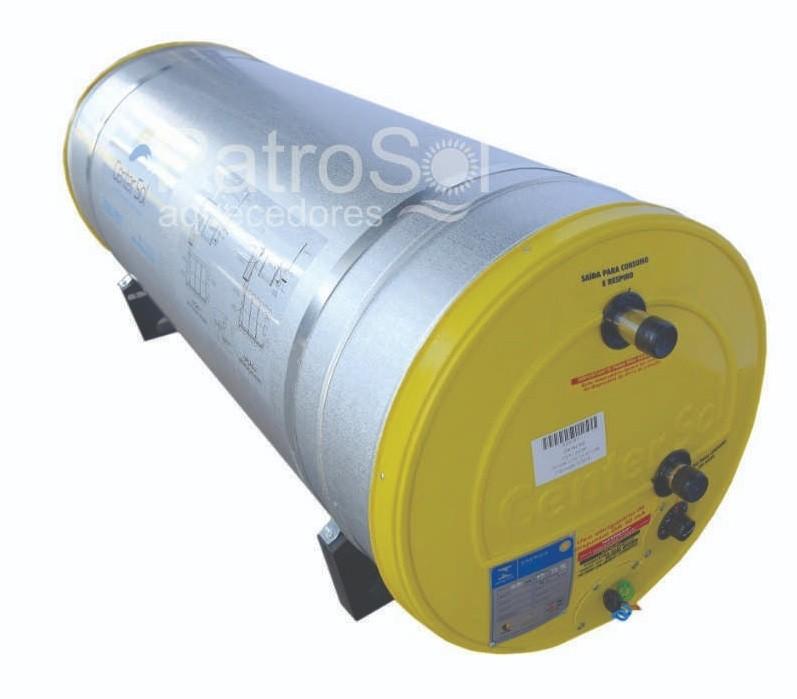 Boiler Para Aquecedor Solar 200 litros – Baixa Pressão Inox 304 Nível/Desnível