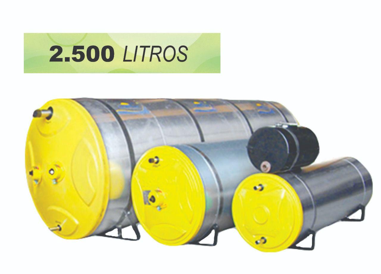 BOILER PARA AQUECEDOR SOLAR 2500 LITROS - INOX (RESERVATÓRIO TÉRMICO)