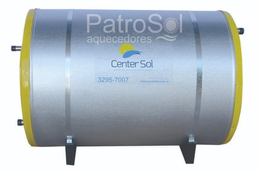 Boiler Para Aquecedor Solar 300 litros  Baixa Pressão Inox 316 Nível/Desnível