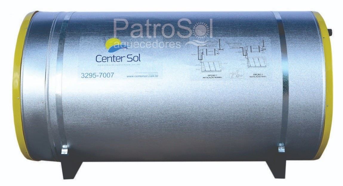 Boiler Para Aquecedor Solar 500 litros – Baixa Pressão Inox 316 Nível/Desnível