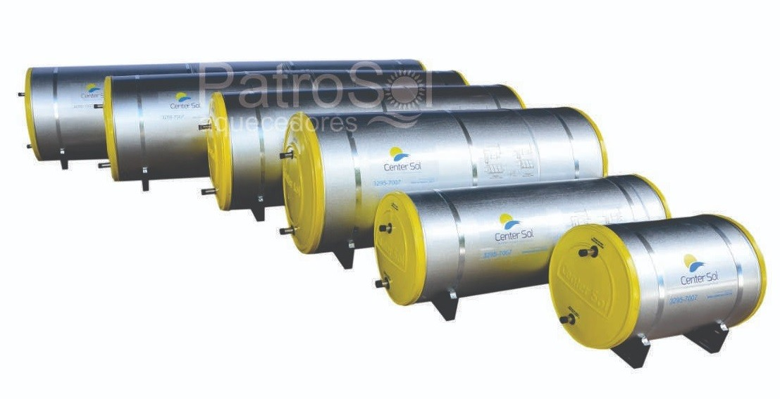 Boiler Para Aquecedor Solar 600 litros  Baixa Pressão Inox 316 Nível/Desnível