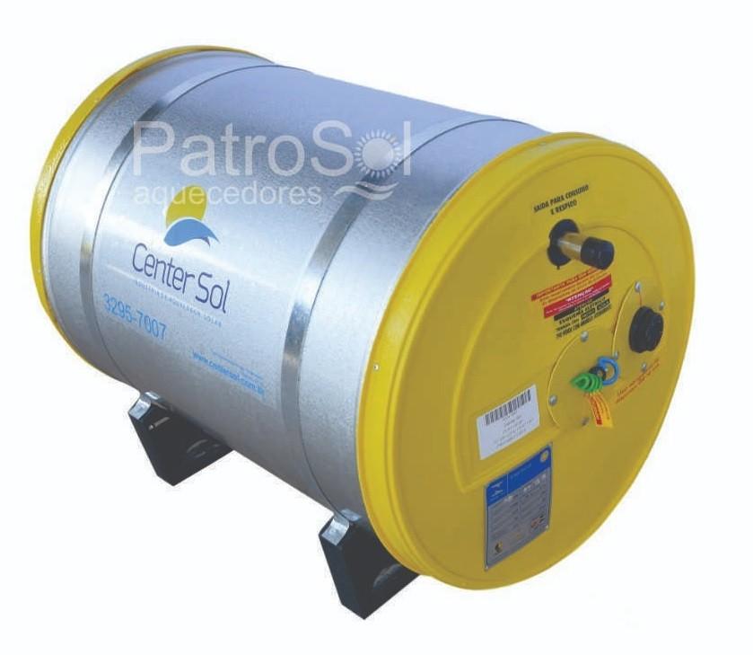 Boiler/Reservatório para Aquecedor Solar 100 Litros Aço Inox 316  Alta Pressão